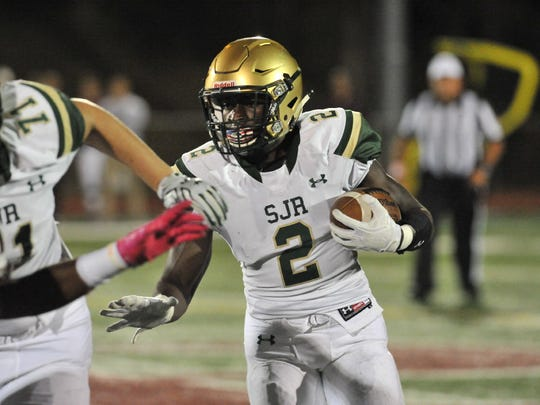 St. Joseph RB/LB Louis Acceus is among the top players
