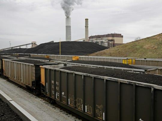 The Pleasant Prairie Power Plant in Kenosha County burns coal mined in the Powder River Basin