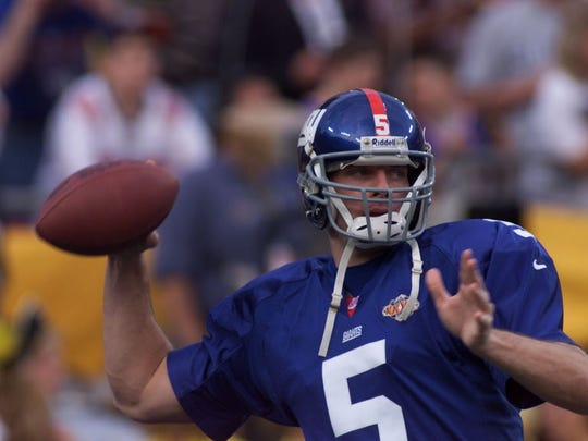 Kerry Collins is one of the best free agent signings in Giants history. The quarterback led Big Blue to Super Bowl XXXV in 2001.