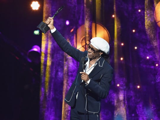 Nile Rodgers greets his fans.
