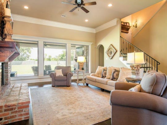 There is lots of natural light in the living areas of the home.