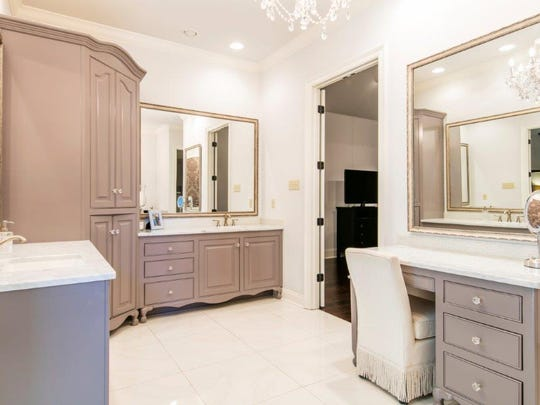 The master bath is large and luxurious.