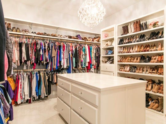 The closets offer tons of space and organization.