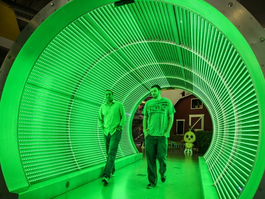 A tunnel greets visitors inside Zynga's headquarters