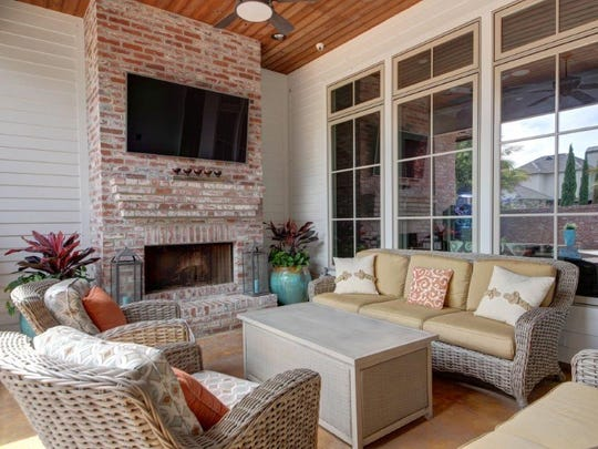 The outdoor areas offer even more living space.
