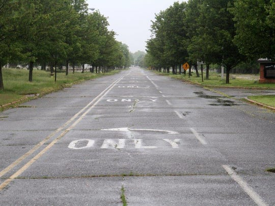 Looking East down the Avenue of Memories in Fort Monmouth, 2014.