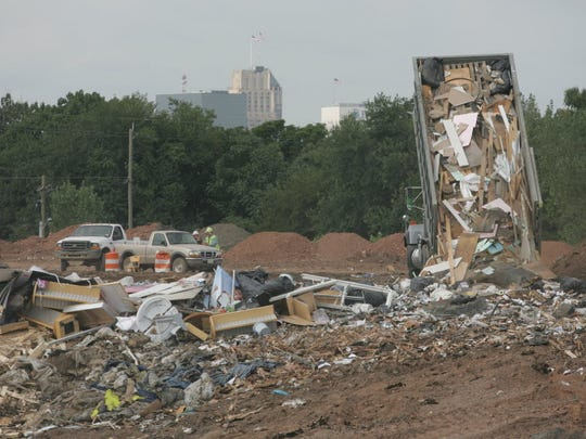 In this 2012 file photo, demolition and construction debris is shown at the Keegan Landfill in Kearny.