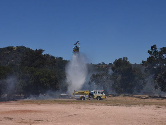 Ventura County fire responded to a small brush fire
