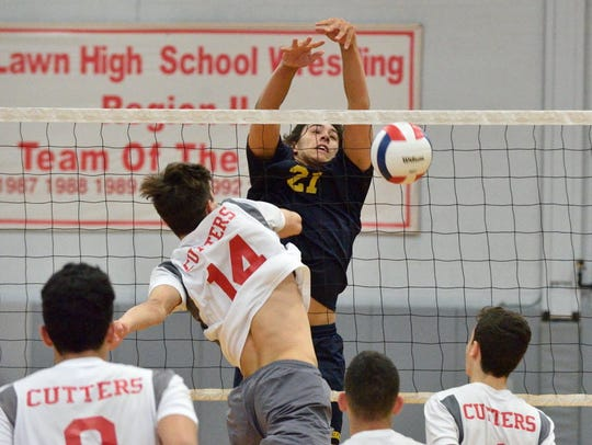 Jason van der Wilt (21) had 364 kills at outside hitter