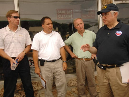 Rep. Rodney Frelinghuysen (third from left) is surrounded by EPA officials in 2007 during  annual tour of Superfund sites in Morris County.
