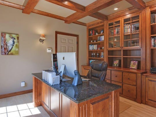 Office space is a feature of the home at 42062 Stearns County Road 1 in Rice.