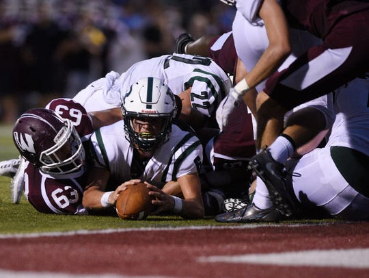 Senior captain Mike Zaccone and the Wayne Hills football