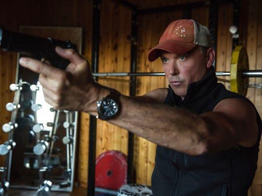 "Michael Keaton in a scene from, ""American Assassin."""