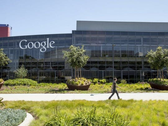 On the Google headquarters campus in Mountain View,