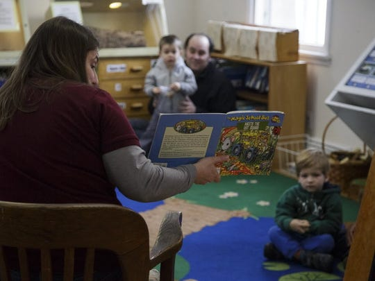Nature story time at the Tenafly Nature Center