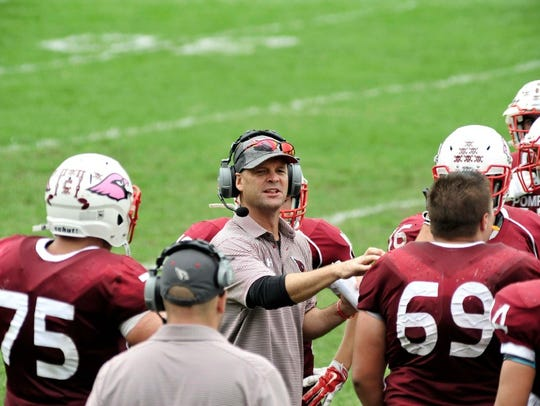 Pompon Lakes coach Scott Mahoney and his Cardinals have a chance at another sectional title against Hasbrouck Heights Saturday at Kean. It will be the last time Mahoney and his son, Logan will be on the football sidelines together.