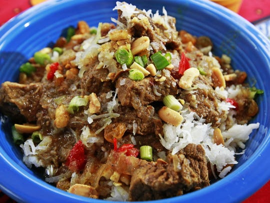 Thiscurried beef recipe comes fromChristiaan Barnard,the