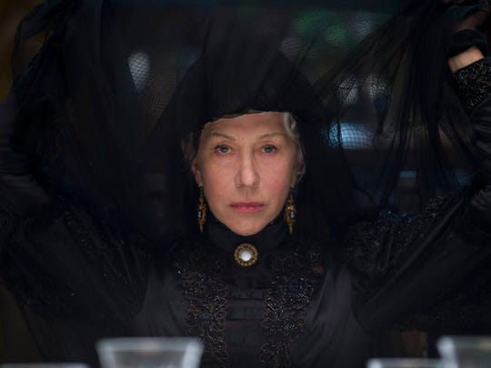 """Helen Mirren stars in """"Winchester."""" Mirren says her latest film isn't really a horror film, but rather a ghost story with a very distinct American element. The 72-year-old Oscar winner plays Sarah Winchester, a heiress who inherited a massive fortune from her husband's invention of the Winchester repeating rifle after the Civil War. In the film, Winchester is haunted by the people killed by the famous firearm."""