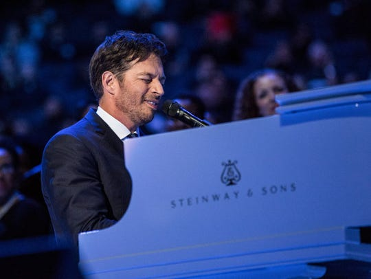 "Harry Connick Jr. sings ""How Great Thou Art"" prior"