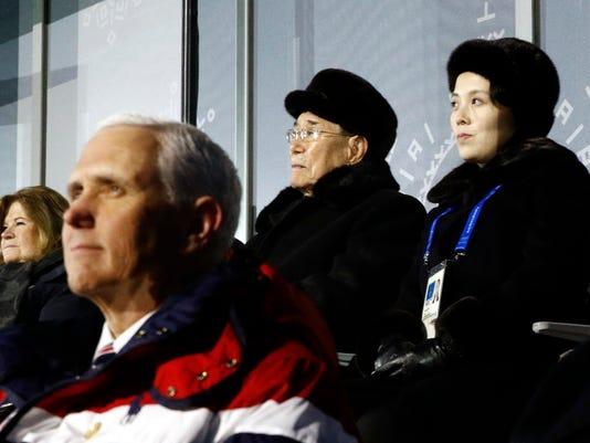 AP PYEONGCHANG OLYMPICS NORTH KOREA SWEET DISTRACTION S OLY FILE KOR