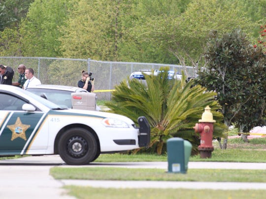 FDLE investigates an officer-involved shooting on Bright Water Drive in Gulf Breeze on Tuesday, March 27, 2018.