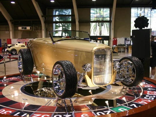 An example of Scott's Hotrods 'n Customs work is on display.