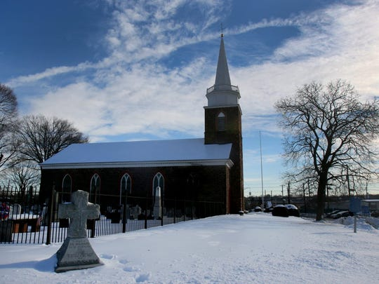 First Dutch Reformed Church, also known as the Old Church on the Green, in Hackensack.