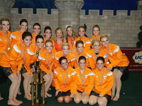 UT Spirit Director Joy Postell-Gee (third row, fourth from the right) with the UT dance team in 2015.