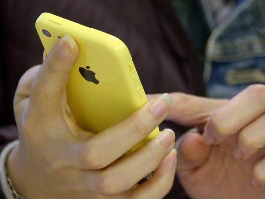Apple iPhone 5c in New York City.