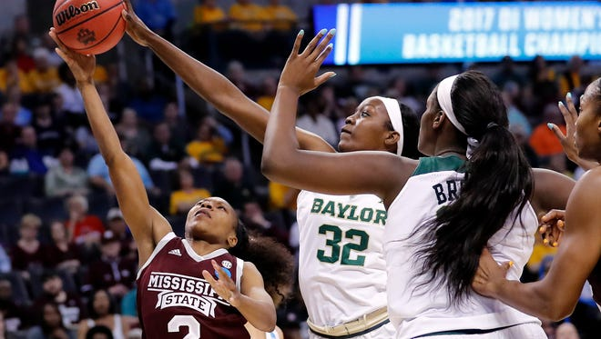Tennessee is one of four school being considered by post player Beatrice Mompremier (32), who is transferring from Baylor.