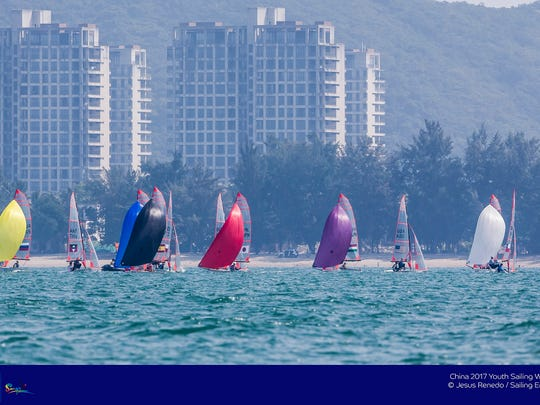 Sanya, China is hosting the Youth Sailing World Championships,