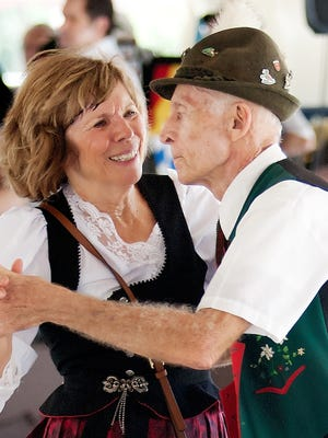 Barbara and Gene Welch dance a waltz during Oktoberfest at the German-American Social Club in Cape Coral.