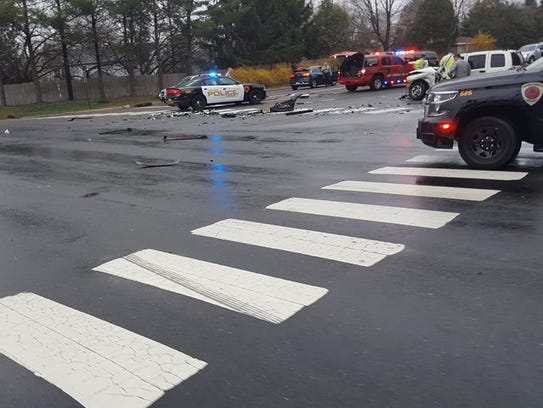 Three cars collided on Colts Neck Road in Freehold,