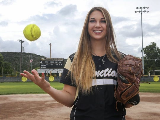 Junction High School senior Emily Vanckhoven was named the MVP of the All-West Texas Softball Team for the second consecutive year.