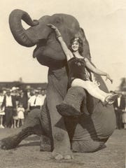 Dorothy Herbert, a famous Circus Equestrienne from