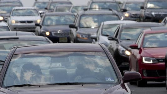 Expect traffic delays near the Jersey Shore on Sunday.