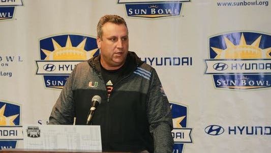 Miami defensive coordinator Mark D'Onofrio is a potential candidate for Purdue's staff