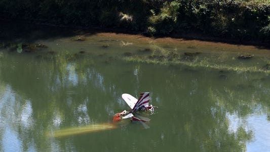 A pilot and passenger are safe after their single-engine plane crashed into the French Broad River on Tuesday, Oct. 11, 2016, in the Thorngrove community in East Knox County. The crash was reported just before 1:50 p.m. to Knox County E-911.