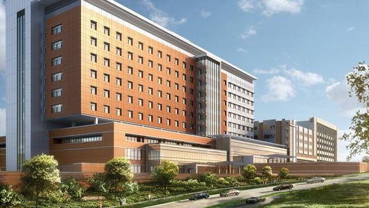 The new 12-story, $400 million tower on the Mission Hospital campus should open in 2019.