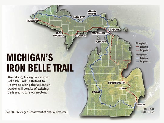 Michigan's cross-state trail has a new name.