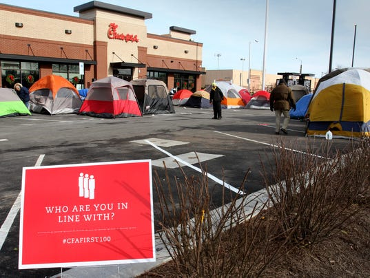 Campers brave cold for a year of Chick-fil-A