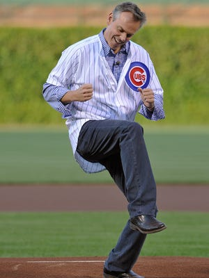 Colin Cowherd enjoyed the ceremonial first pitch he threw at a Cubs game in 2013.