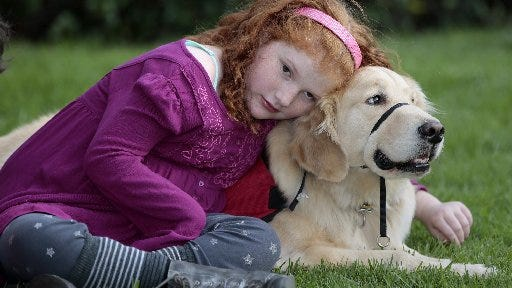 When Alyssa Howes has a bad day, she simply calls her service dog, Flint, and he comforts her. Diagnosed with leukemia at age 3, and blind at age 4, Alyssa then began having seizures. Having Flint in her life gives the 11-year-old a more normal life by alerting her family to seizures, guiding her so she doesn't fall and allowing her to have a bit more freedom.