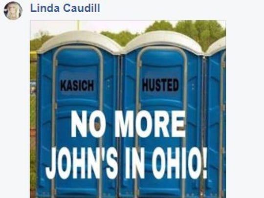 Linda Caudill's Facebook post.