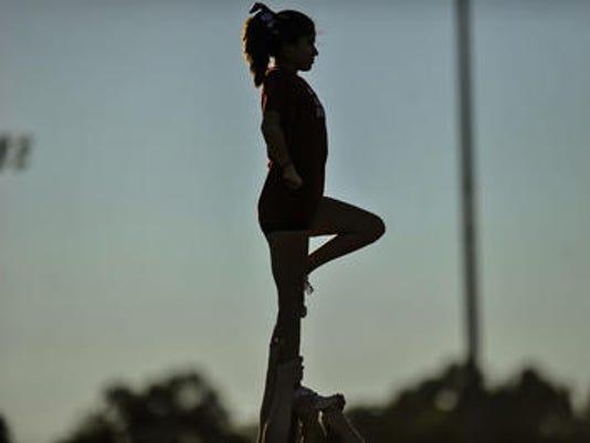 Union County cheerleaders Snapple Bowl