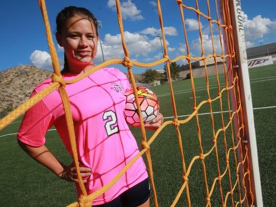 Brianna Thomas is a forward on the Miners' soccer team.