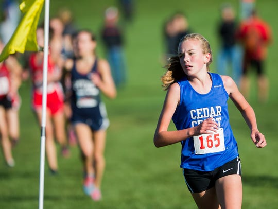 Cedar Crest's Gwyneth Young fights her way to a tenth