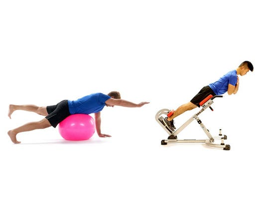 EXERCISE: Supermans, back extensions
