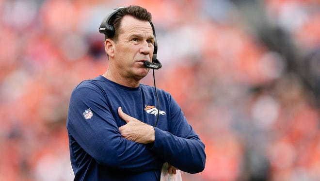 Denver Broncos head coach Gary Kubiak was taken to the hospital Sunday, following the Broncos' 23-16 loss to the Atlanta Falcons.