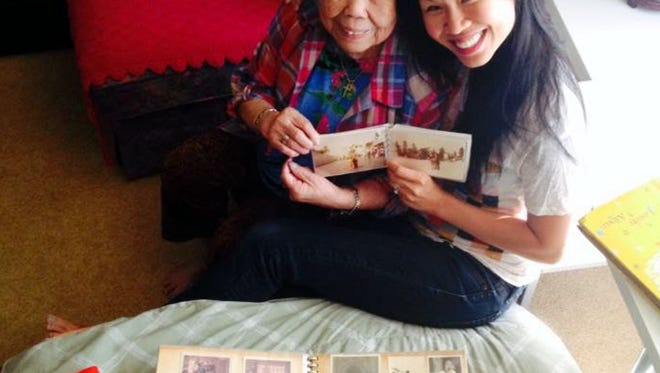 Benita Cooper with her 96-year-old grandmother, Mei Chiu, whose family stories inspired Cooper to start a storytelling group for seniors.